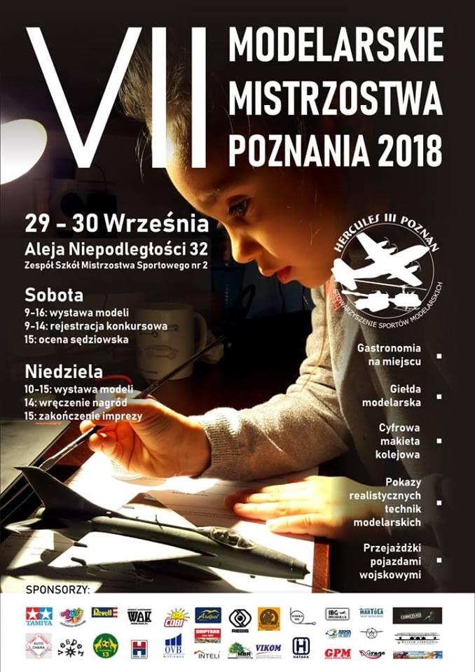 .VII Otwarte Mistrzostwa Poznania Modeli Redukcyjnych 2018.09.29-30.